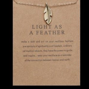 Jewelry - Boho Chic🕊️Gld Dipped Light As A Feather Necklace